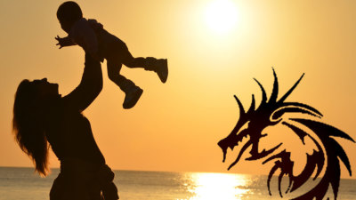 the dragon the woman the child