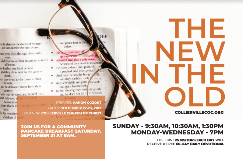 The New in the Old - Gospel Meeting with Aaron Cozort