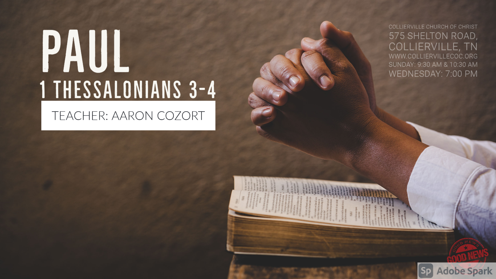 "Featured image for ""04-21-2021 – LIVE: 1 Thessalonians 3-4 (Class)"""
